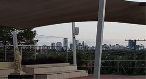 View of the Brisbane City from the Centenary Piazza
